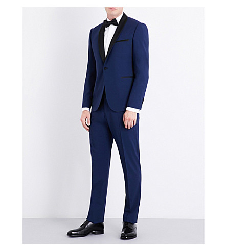 ARMANI COLLEZIONI Eve tailored-fit wool-blend tuxedo (Navy