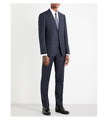 ARMANI COLLEZIONI Checked wool suit (Navy