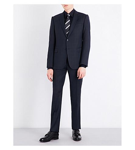 ARMANI COLLEZIONI Modern-fit wool suit (Blue