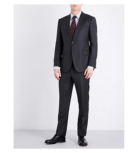 ARMANI COLLEZIONI Pindot wool suit (Charcoal