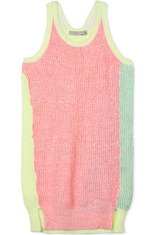 STELLA MCCARTNEY Frankie neon knitted dress 6-14 years