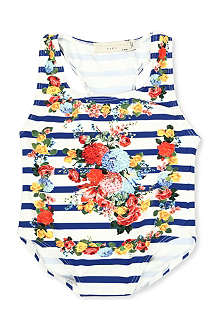 STELLA MCCARTNEY Striped floral swimsuit 3-14 years