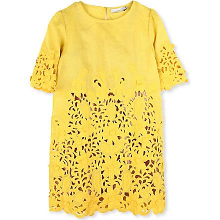 STELLA MCCARTNEY Harper Broderie Anglaise dress 4-14 years (Yellow