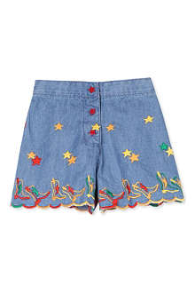STELLA MCCARTNEY Connie embroidered denim shorts 4-14 years
