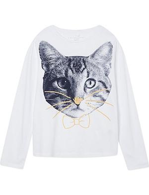 STELLA MCCARTNEY Barley cat print t-shirt 2-14 years