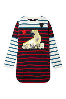 STELLA MCCARTNEY Charlotte bear striped dress 2-14 years