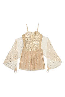 STELLA MCCARTNEY Bonny gold dress 2-14 years