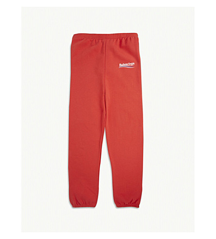 BALENCIAGA Logo cotton-blend jogging bottoms 2-10 years (Red