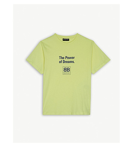 BALENCIAGA The Power of Dreams cotton T-shirt 2-10 years (Yellow