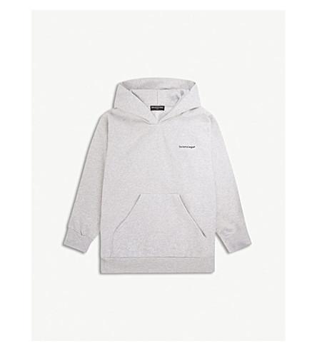 巴黎世家标志棉混纺餐饮2-10 年 (灰色