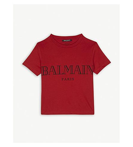 BALMAIN Logo cotton T-shirt 6-14 years (Red