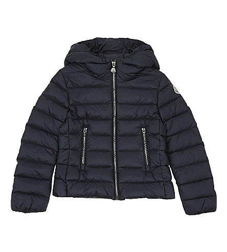 MONCLER Adorne hooded goose down puffa jacket 4-14 years (Navy