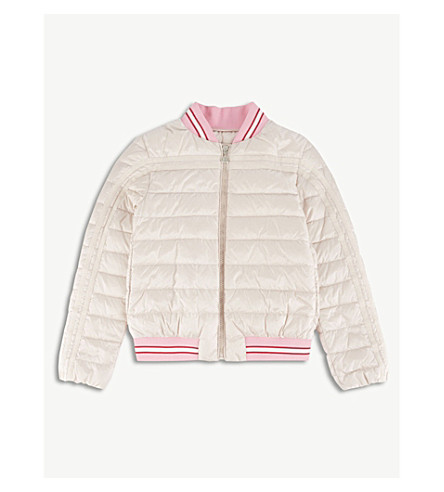 MONCLER Alisette quilted bomber jacket 4-14 years (Light pink