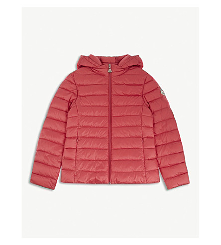 MONCLER Iraida quilted bomber jacket 4-14 years (Dark+pink