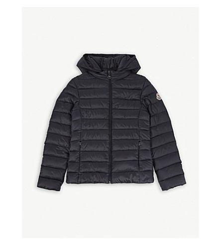 MONCLER Iraida quilted bomber jacket 4-14 years (Navy