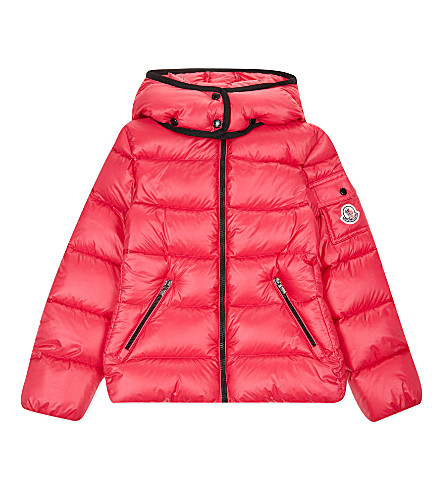 MONCLER Berre down puffa jacket 4-14 years (Fuschia