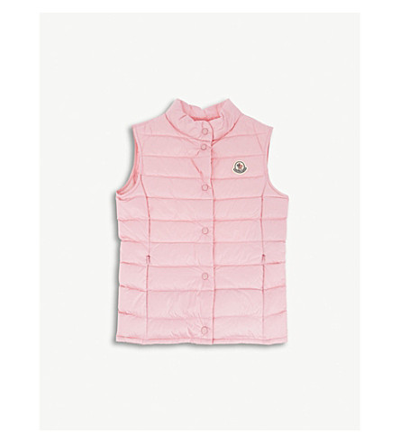 MONCLER Liane classic vest 4-14 years (Mid+pink