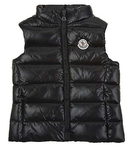 MONCLER Ghany goose down puffa gilet 4-14 years (Black