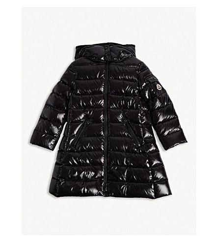 MONCLER Moka goose down puffa coat 4-14 years (Black