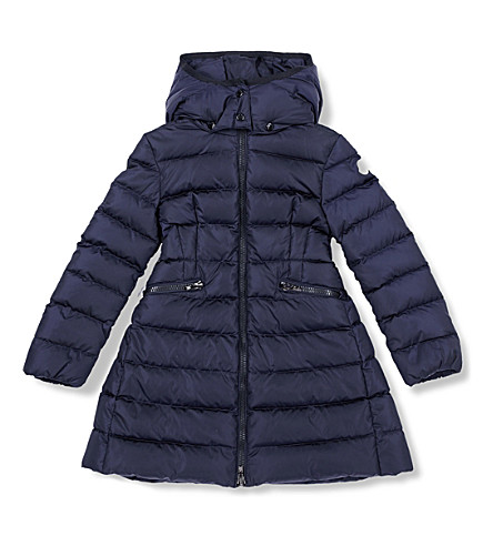 MONCLER Charpal quilted puffer coat 4-14 years (Navy