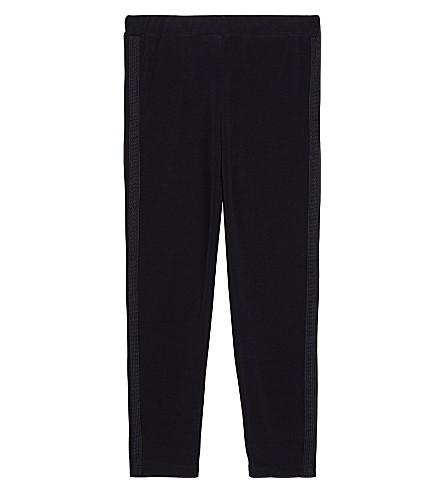 MONCLER Cord stripe tracksuit bottoms 4-14 years (Navy