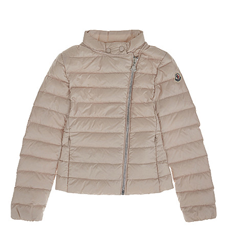 MONCLER Amy quilted jacket 4-14 years (529+pale+pink