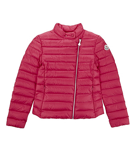 MONCLER Amy quilted jacket 4-14 years (562+fushia