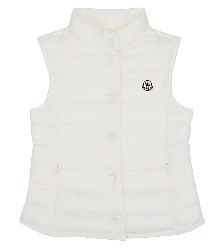 MONCLER Liane quilted gilet 4-14 years (032+white
