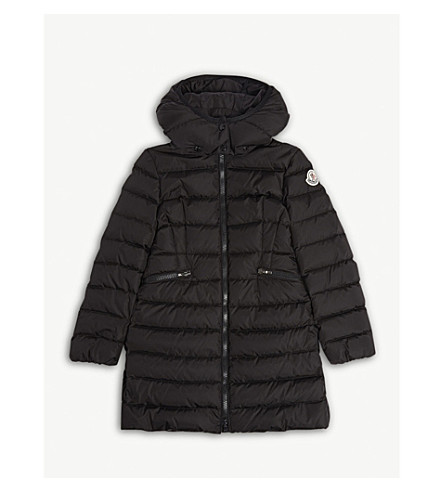 MONCLER Charpal quilted puffer coat 4-14 years (Black