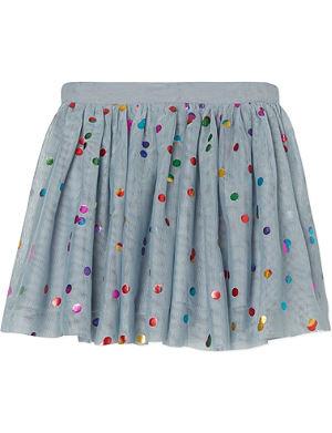 STELLA MCCARTNEY Metallic spotted tulle skirt 2-14 years