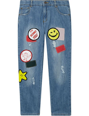 STELLA MCCARTNEY Boyfriend jeans with patches 2-14 years