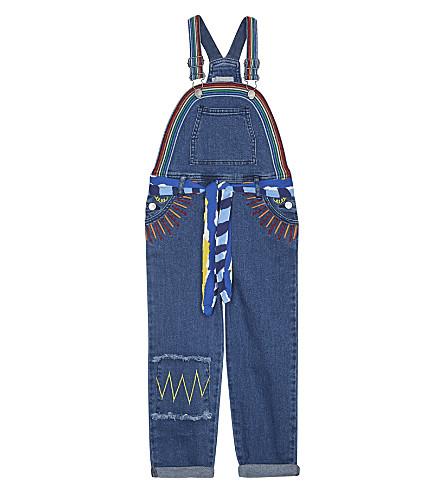 STELLA MCCARTNEY Ruthie embroidered cotton dungarees 4-14 years (Dark blue denim
