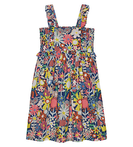 STELLA MCCARTNEY Celeste cotton dress 4-14 years (Collage floral marine