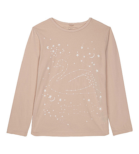 STELLA MCCARTNEY Bella embroidered cotton long-sleeved top 4-16 years (Pearl+pink