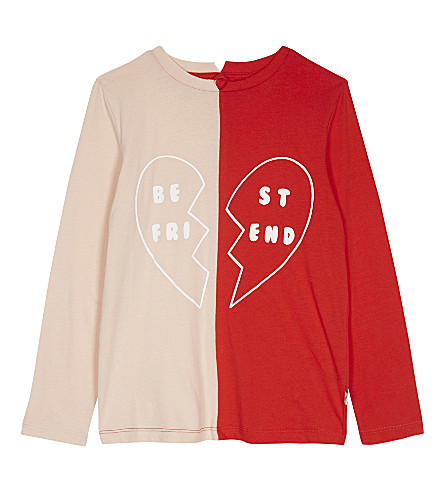 STELLA MCCARTNEY Bella Best Friends organic cotton top 4-16 years (Parrot+red