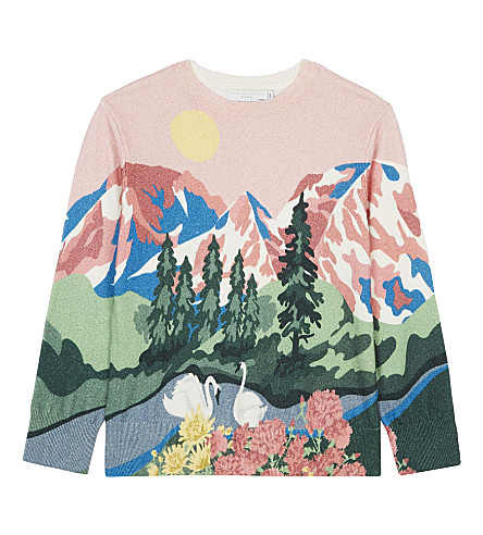 STELLA MCCARTNEY Cassius landscape jumper 4-16 years (Pearl+pink