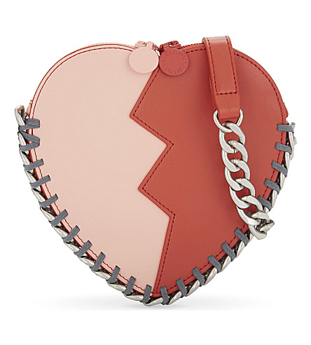 STELLA MCCARTNEY Jazz heart shoulder bag (Dusty+rose