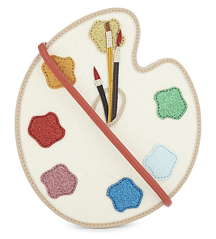 STELLA MCCARTNEY Glitter paint palette cross-body bag (Cloud