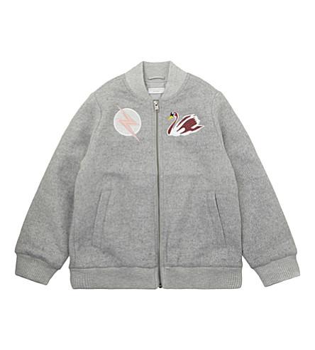 STELLA MCCARTNEY Swan patch bomber jacket 4-16 years (Thunder