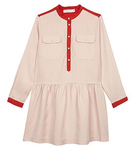 STELLA MCCARTNEY Tess shirt dress 4-16 years (Pearl+pink