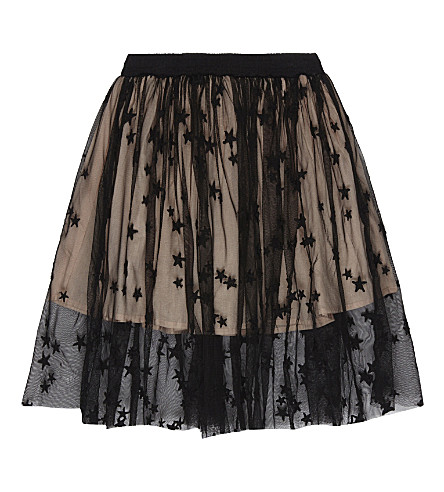STELLA MCCARTNEY Amalie star lace skirt 4-16 years (Black