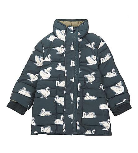 STELLA MCCARTNEY Swan padded puffa jacker 4-14 years (Swans+aop+on+petrol