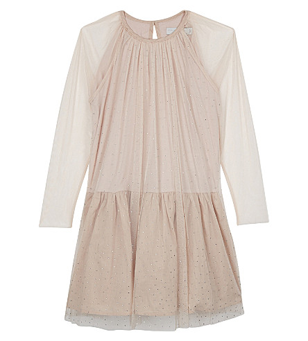 STELLA MCCARTNEY Misty sequinned dress 4-16 years (Pearl+pink