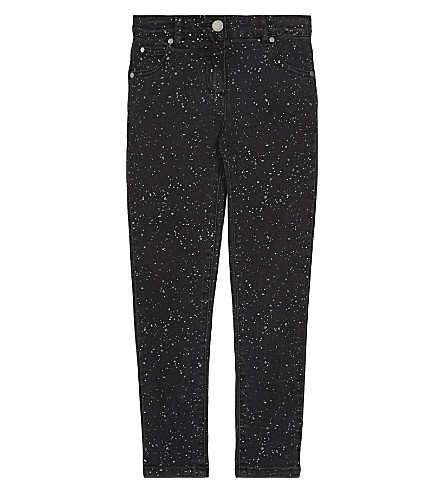 STELLA MCCARTNEY Nina splatter print cotton jeans 4-16 years (Splat+denim+pr+black