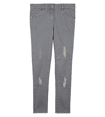 STELLA MCCARTNEY Nina distressed cotton jeans 4-16 years (Light+grey+denim