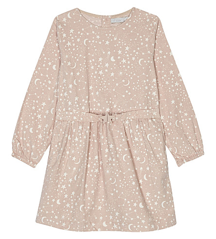 STELLA MCCARTNEY Skippy moon and stars cotton dress 4-16 years (Cosmic+pr+on+pink