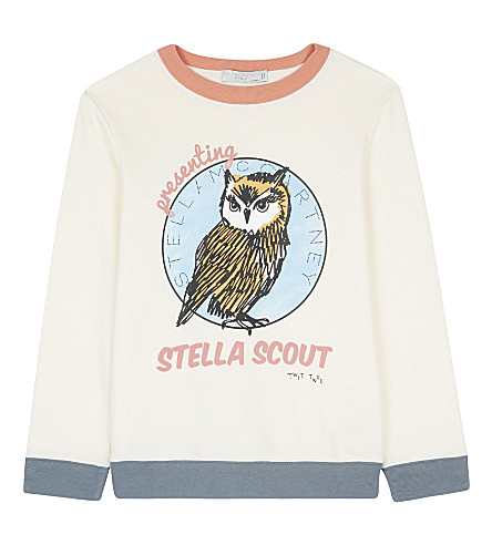 STELLA MCCARTNEY Betty cotton jumper 4-16 years (Cloud