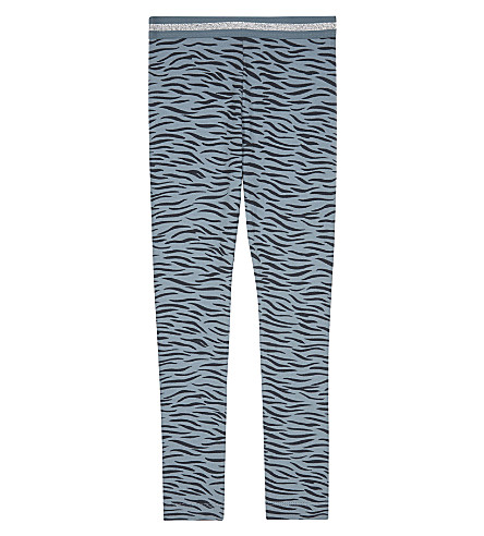 STELLA MCCARTNEY Tula tiger striped cotton leggings 4-16 years (Tiger+tile+small
