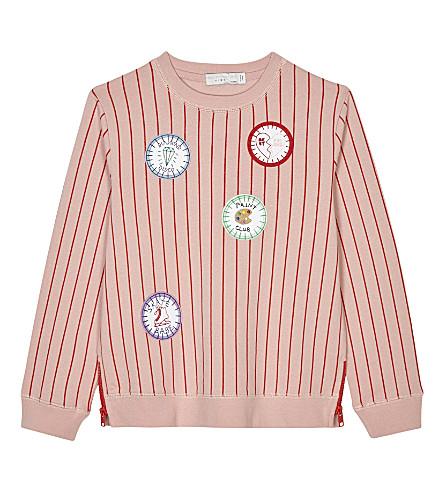 STELLA MCCARTNEY Estelle zipped sides cotton sweatshirt 4-16 years (Dusty+rose/par+red