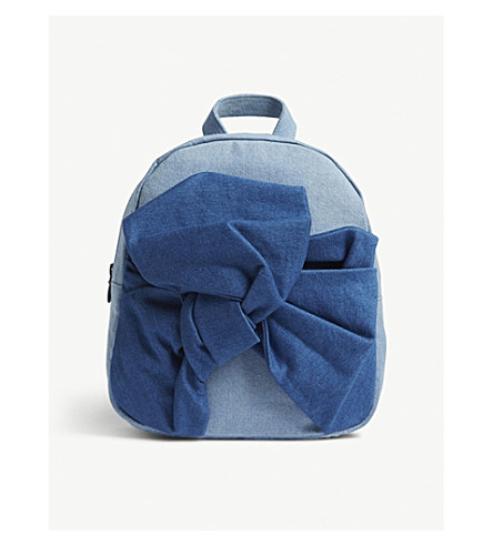 STELLA MCCARTNEY Blair bow cotton backpack (Denim